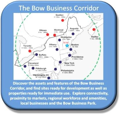 Map of the Bow Area Business Corridor and descriptive text