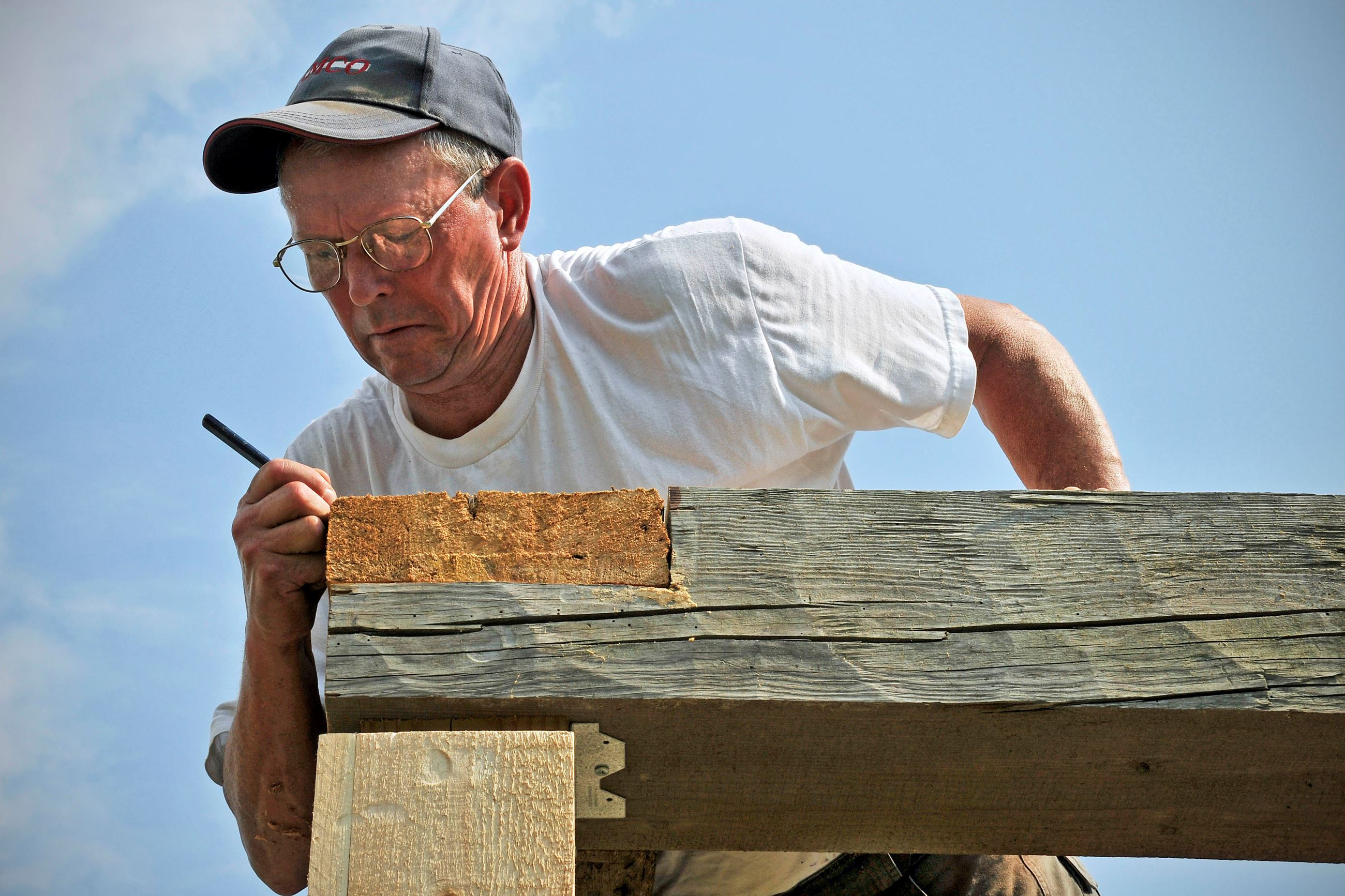Bow Mens Club Helps with Historic Project - Photo by Eric Anderson