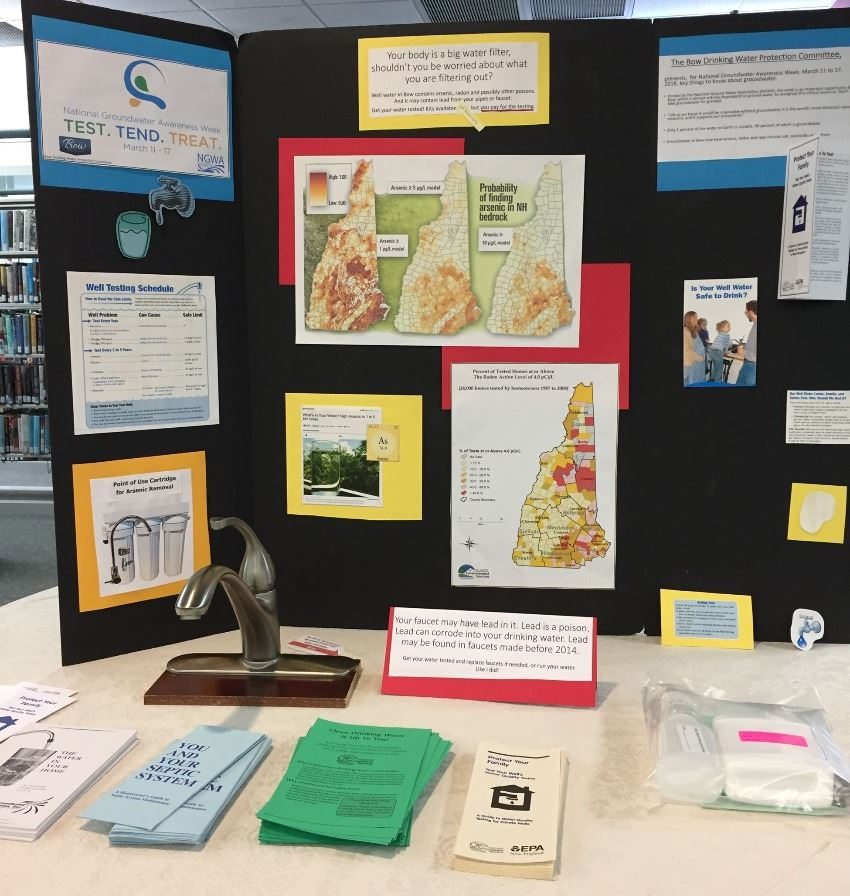 2018 Display for the Bow Drinking Water Protection Committee for well water testing