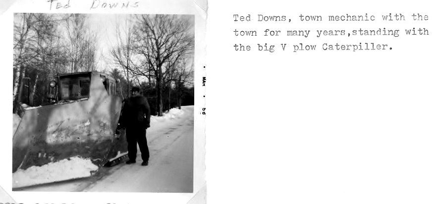 Pg 65  Ted Downs with big Catapillar V plow