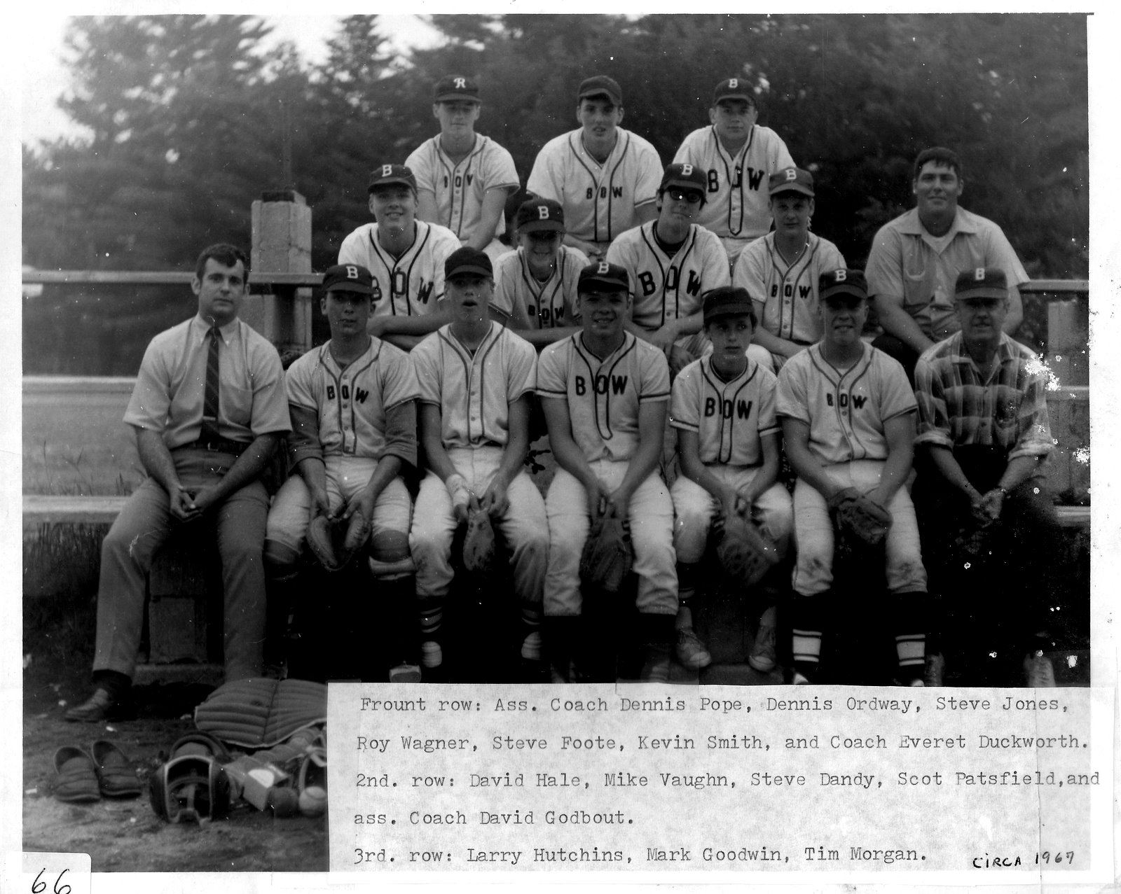 Pg 66  Bow Team in 1969