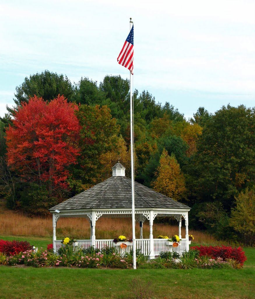 Gazebo  with American Flag